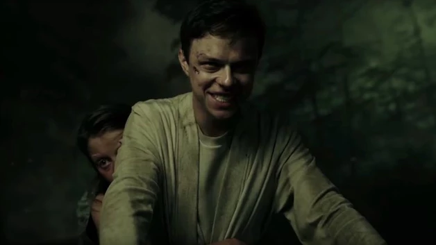 Lockharts ending smile in A Cure for Wellness