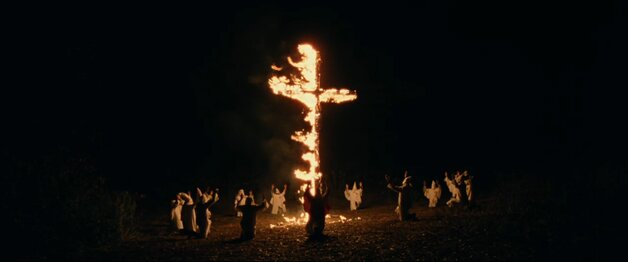 Blackkklansmen cross burning