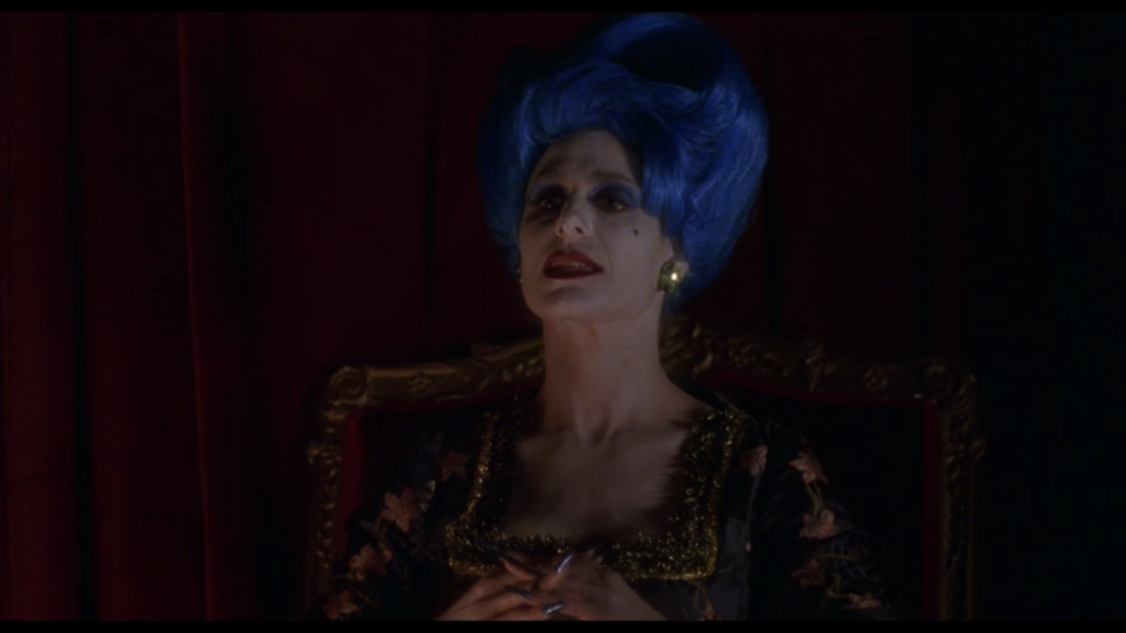 Mulholland Drive woman blue hair silencio theater