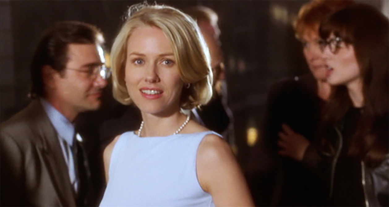 Betty smiles at Adam in Mulholland Drive