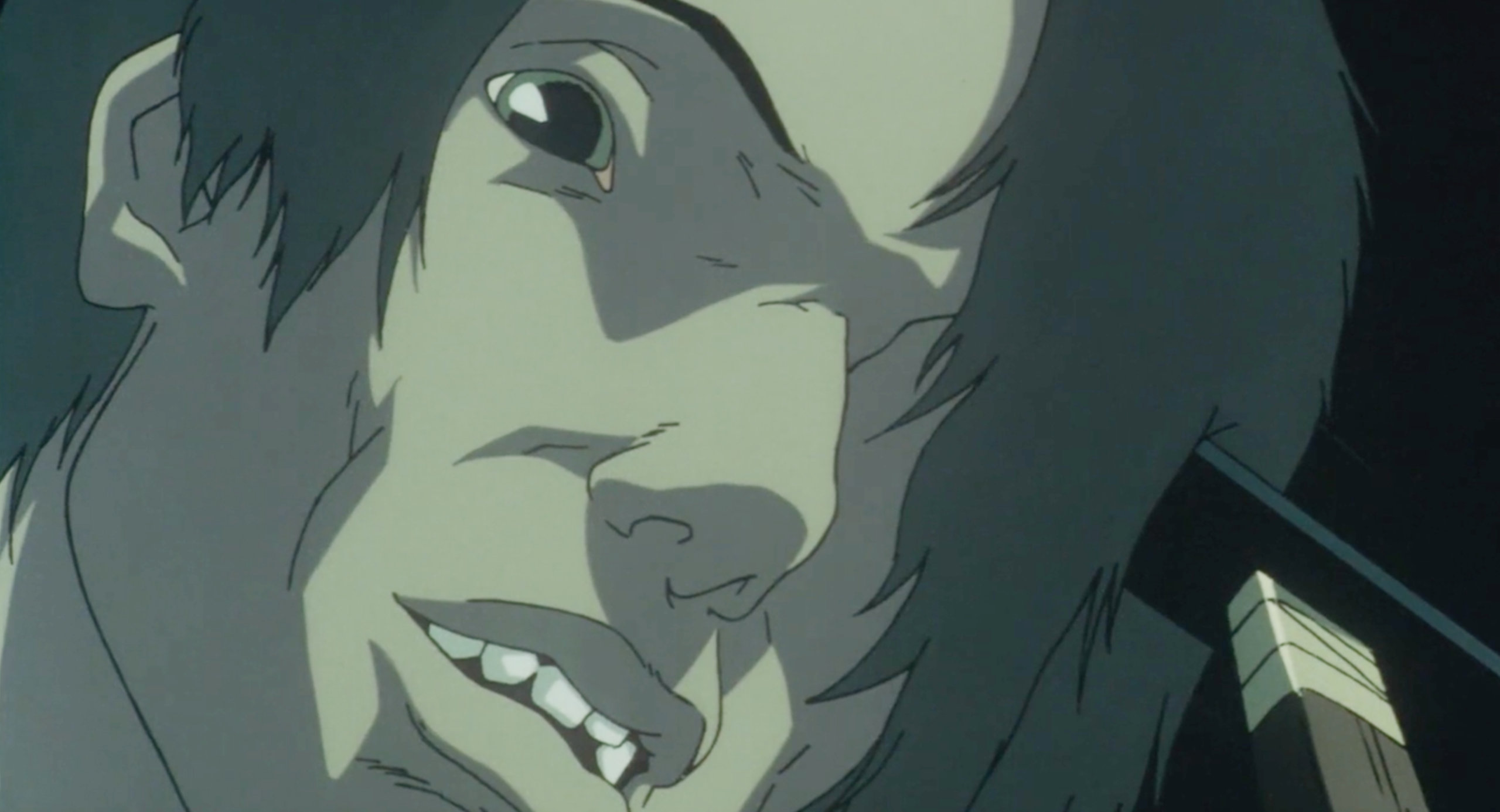 Mima hits Me-Mania with a hammer in Perfect Blue