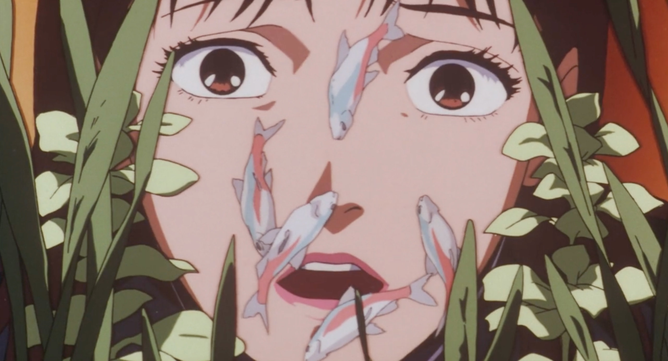 Mima cries about her dead fish in Perfect Blue