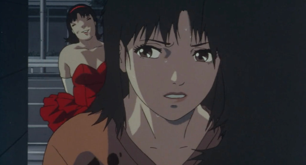 Rumi stands behind Mima, waiting to kill her in Perfect Blue