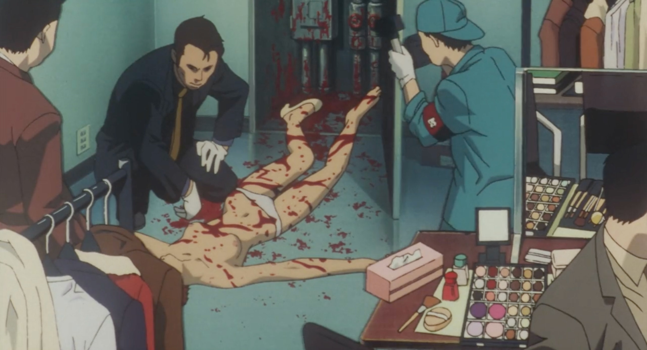 A model who has been murdered in the show Double Bind in Perfect Blue