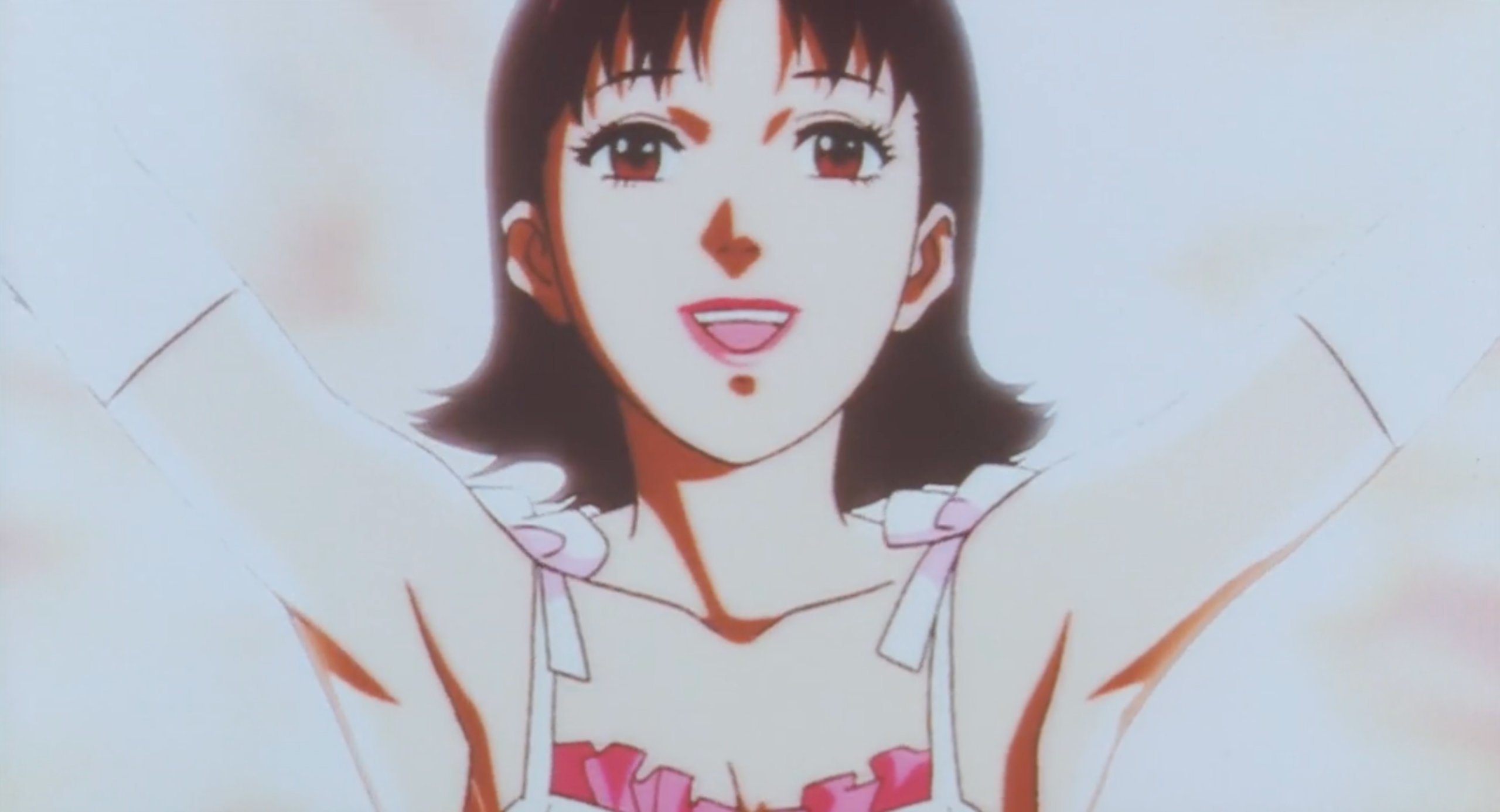 Mima poses for a crowd in Perfect Blue